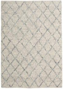 Rut - Silber/Grau Melange Teppich  160X230 Echter Moderner Handgewebter Hellgrau/Dunkel Beige (Wolle, Indien)