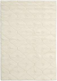 Romby - Off-Weiß Teppich 160X230 Echter Moderner Handgewebter Beige/Dunkel Beige (Wolle, Indien)