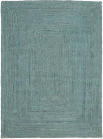 Frida Color - Türkis Teppich  160X230 Echter Moderner Handgewebter Türkisblau/Türkisblau ( Indien)