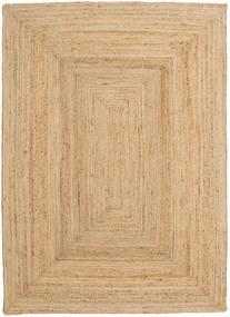 Outdoor-Teppich Frida - Natural Teppich  140X200 Echter Moderner Handgewebter Dunkel Beige/Beige (Jute-Teppich Indien)
