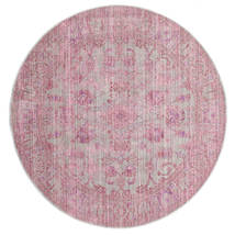 Maharani - Grau/Rosa Teppich  Ø 200 Moderner Rund Hellrosa ( Türkei)