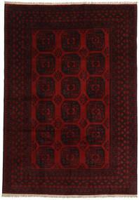 Afghan Teppich  197X284 Echter Orientalischer Handgeknüpfter Dunkelbraun/Rot (Wolle, Afghanistan)