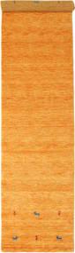 Gabbeh Loom Two Lines - Orange Teppich 80X350 Moderner Läufer Orange/Hellbraun (Wolle, Indien)