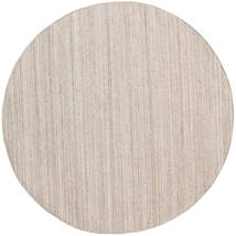 Outdoor-Teppich Petra - Beige_Mix Teppich Ø 200 Echter Moderner Handgewebter Rund Hellgrau/Weiß/Creme ( Indien)