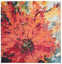 Flora Teppich  200X200 Moderner Quadratisch Rot/Orange ( Türkei)
