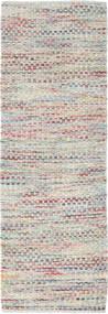 Tindra - Pastel Multi Teppich  80X250 Echter Moderner Handgewebter Läufer Hellgrau/Dunkel Beige (Wolle, Indien)