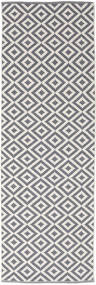 Torun - Grau/Neutral Teppich 80X250 Echter Moderner Handgewebter Läufer Hellgrau/Helllila (Baumwolle, Indien)
