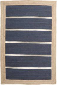Outdoor-Teppich Frida Stripe - Blau Teppich 200X300 Echter Moderner Handgewebter Blau/Beige/Dunkelblau (Jute-Teppich Indien)