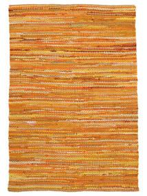 Ronja - Gelb Mix Teppich 140X200 Echter Moderner Handgewebter Dunkel Beige/Orange (Baumwolle, Indien)