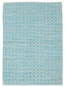 Elna - Bright_Blue Teppich  140X200 Echter Moderner Handgewebter Hellblau/Türkisblau (Baumwolle, Indien)