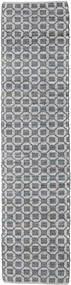 Elna - Grau Teppich  80X350 Echter Moderner Handgewebter Läufer Hellgrau/Lila (Baumwolle, Indien)