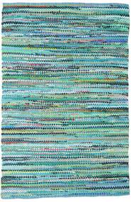Ronja - Grün Mix Teppich  170X240 Echter Moderner Handgewebter Türkisblau/Hellblau (Baumwolle, Indien)