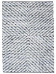 Hilda - Denim/Weiß Teppich  170X240 Echter Moderner Handgewebter Beige/Hellblau (Baumwolle, Indien)