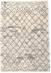 Kelim Ariana Teppich  206X298 Echter Moderner Handgewebter Hellgrau/Beige (Wolle, Afghanistan)
