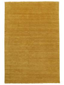 Handloom Fringes - Gelb Teppich  160X230 Moderner Gelb/Hellbraun (Wolle, Indien)