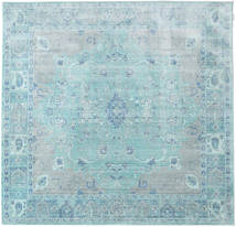 Maharani - Blau Teppich  200X200 Moderner Quadratisch Hellblau/Türkisblau ( Türkei)