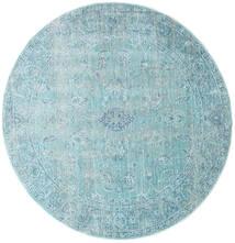 Maharani - Blau Teppich  Ø 150 Moderner Rund Hellblau/Türkisblau ( Türkei)