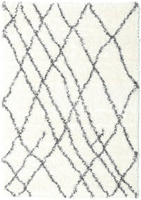 Shaggy Tangier - Weiß/Dunkelgrau Teppich  160X230 Moderner Beige/Hellgrau ( Türkei)