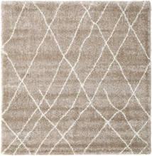 Shaggy Tangier - Beige/Weiß Teppich  250X250 Moderner Quadratisch Hellgrau Großer ( Türkei)