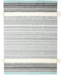Fenix - Türkis Teppich  170X240 Echter Moderner Handgewebter Weiß/Creme/Hellgrau (Wolle, Indien)