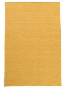 Kelim Loom - Gelb Teppich  200X300 Echter Moderner Handgewebter Hellbraun/Dunkel Beige (Wolle, Indien)
