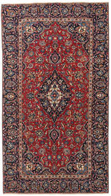 Keshan Patina Teppich 132X238 Echter Orientalischer Handgeknüpfter Dunkelrot/Dunkelbraun/Dunkellila (Wolle, Persien/Iran)