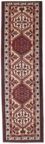 Sarab Patina Teppich 100X345 Echter Orientalischer Handgeknüpfter Läufer Dunkelbraun/Dunkelrot (Wolle, Persien/Iran)