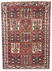 Bachtiar Patina Teppich 110X152 Echter Orientalischer Handgeknüpfter Dunkelrot/Dunkelbraun (Wolle, Persien/Iran)