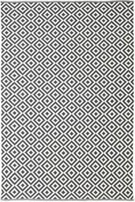 Torun - Schwarz/Neutral Teppich  200X300 Echter Moderner Handgewebter Dunkelgrau/Beige (Baumwolle, Indien)
