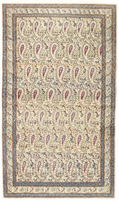 Kerman Patina Teppich 85X147 Echter Orientalischer Handgeknüpfter Beige/Hellgrau (Wolle, Persien/Iran)