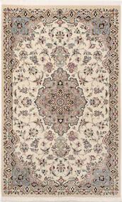 Nain 9La Sherkat Farsh Teppich 90X145 Echter Orientalischer Handgeknüpfter Hellgrau/Beige (Wolle/Seide, Persien/Iran)