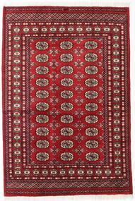 Pakistan Buchara 2Ply Teppich  125X185 Echter Orientalischer Handgeknüpfter Dunkelrot (Wolle, Pakistan)