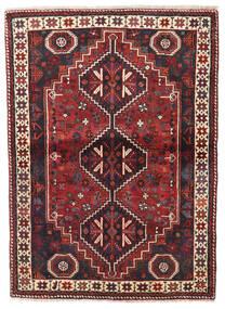 Shiraz Teppich  113X154 Echter Orientalischer Handgeknüpfter Dunkelrot/Dunkelblau (Wolle, Persien/Iran)