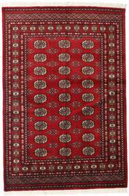 Pakistan Buchara 2Ply Teppich  126X186 Echter Orientalischer Handgeknüpfter Dunkelrot/Rot (Wolle, Pakistan)