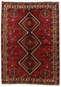 Ghashghai Teppich  158X225 Echter Orientalischer Handgeknüpfter Dunkelrot/Rot (Wolle, Persien/Iran)