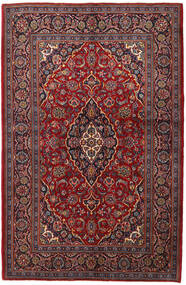 Keshan Teppich  143X215 Echter Orientalischer Handgeknüpfter Dunkelrot/Dunkelbraun (Wolle, Persien/Iran)