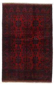 Afghan Khal Mohammadi Teppich  131X196 Echter Orientalischer Handgeknüpfter Dunkelrot (Wolle, Afghanistan)
