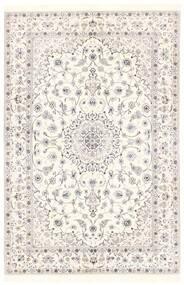 Nain 6La Teppich 151X228 Echter Orientalischer Handgewebter Beige/Hellgrau (Wolle/Seide, Persien/Iran)