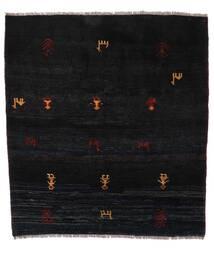 Gabbeh Rustic Teppich 153X169 Echter Moderner Handgeknüpfter Schwartz (Wolle, Persien/Iran)