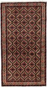 Belutsch Teppich  101X185 Echter Orientalischer Handgeknüpfter Dunkelbraun/Dunkelrot (Wolle, Persien/Iran)