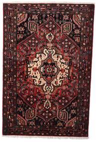 Hamadan Teppich  104X158 Echter Orientalischer Handgeknüpfter Dunkelrot (Wolle, Persien/Iran)