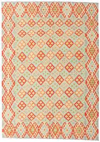 Kelim Afghan Old Style Teppich  208X293 Echter Orientalischer Handgewebter Beige/Orange/Dunkel Beige (Wolle, Afghanistan)