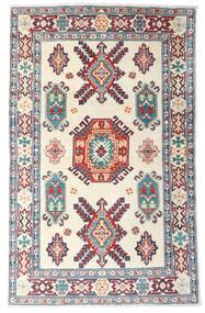 Kazak Teppich 99X157 Echter Orientalischer Handgeknüpfter Beige/Lila (Wolle, Afghanistan)