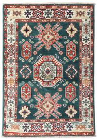 Kazak Teppich 87X126 Echter Orientalischer Handgeknüpfter Blau/Beige (Wolle, Afghanistan)