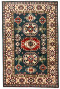 Kazak Teppich  120X184 Echter Orientalischer Handgeknüpfter Dunkelblau/Dunkelrot (Wolle, Afghanistan)