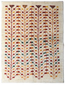 Gabbeh Persisch Teppich 151X198 Echter Moderner Handgeknüpfter Beige/Hellgrau (Wolle, Persien/Iran)