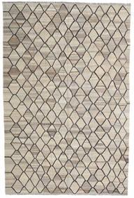 Kelim Ariana Teppich  206X314 Echter Moderner Handgewebter Hellgrau/Dunkelgrau (Wolle, Afghanistan)