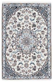 Nain 9La Teppich 90X137 Echter Orientalischer Handgeknüpfter Weiß/Creme/Hellblau (Wolle/Seide, Persien/Iran)