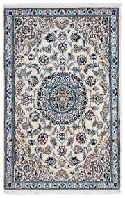 Nain 9La Teppich 93X141 Echter Orientalischer Handgeknüpfter Dunkelgrau/Hellgrau (Wolle/Seide, Persien/Iran)