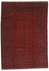 Afghan Teppich  206X289 Echter Orientalischer Handgeknüpfter Dunkelrot/Dunkelbraun (Wolle, Afghanistan)